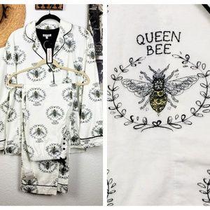 P.J. Salvage Queen Bee Flannel Pajama 2 Piece Set